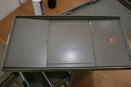 drawers with riveted flaps
